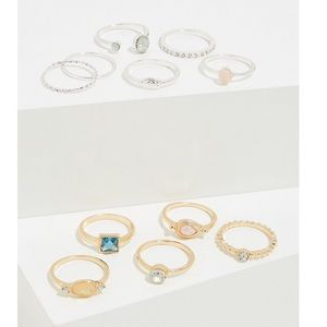 Torrid Faux Stone Stackable Ring Set in Size 12